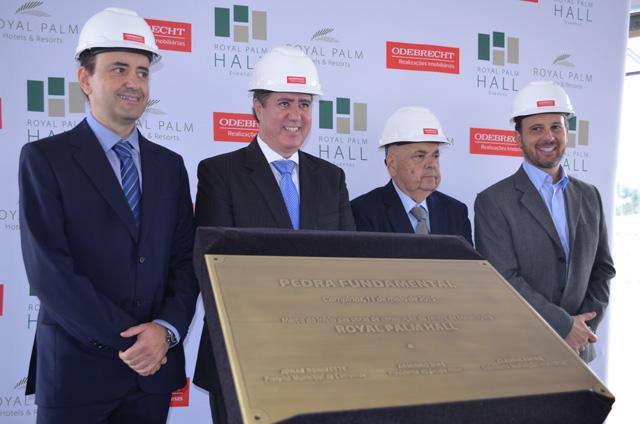 Odebrecht e Royal Palm lançam pedra fundamental de complexo multi uso em Campinas