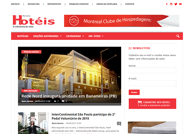 Revista Hotéis concluiu um novo e moderno site responsivo