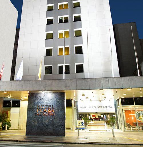 Check-in implanta Guest One no Plaza São Rafael Hotel em Porto Alegre