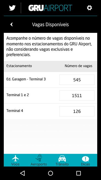 Aplicativo do GRU Airport ganha novas funcionalidades