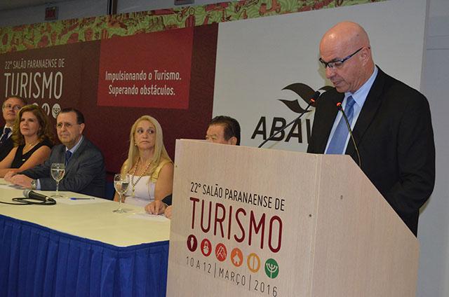 Cerimônia prestigiada abriu 22º Salão Paranaense de Turismo em Curitiba