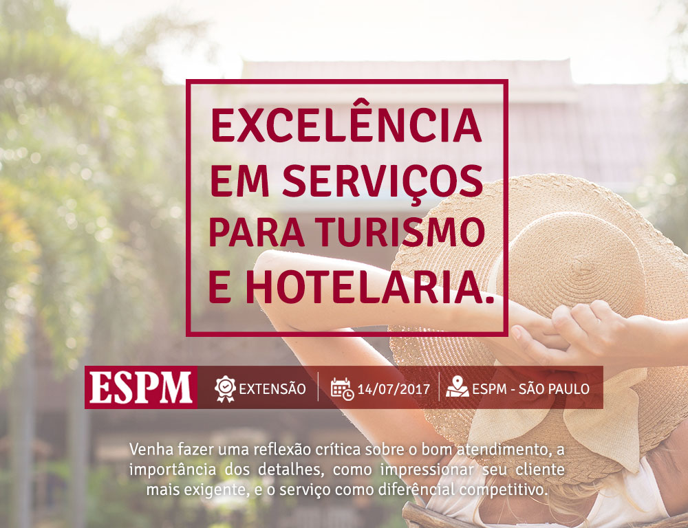 ESPM ministra cursos de férias na área de hotelaria e turismo