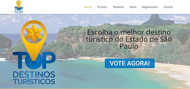 Top Destinos Turísticos vai premiar cidades paulistas em 13 segmentos do setor