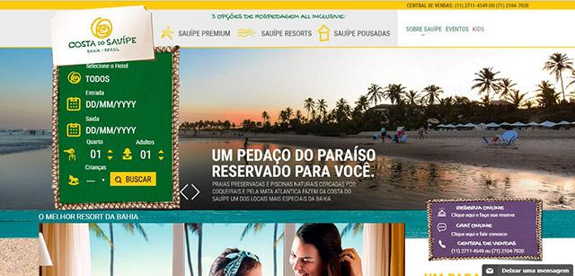 Novo portal da Costa do Sauípe fortalece a interação com o público