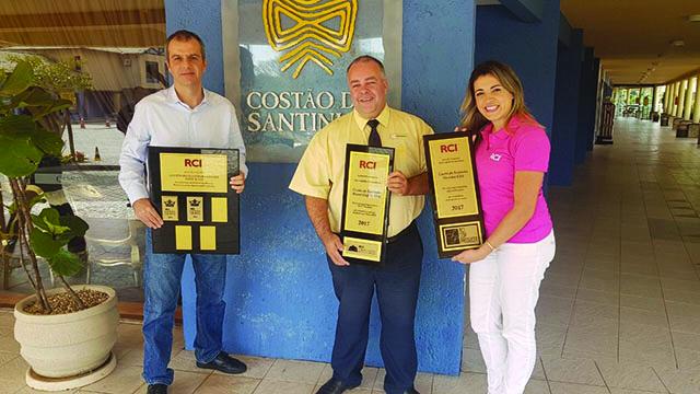 Costão do Santinho recebe três premiações RCI em Florianópolis (SC)
