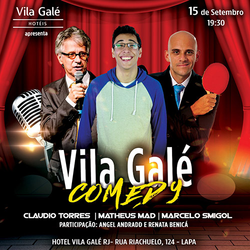 Festival Vila Galé Stand Up Comedy começa neste mês no Rio de Janeiro