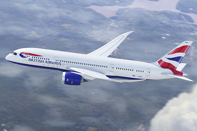 Boeing 787-800 Dreamliner da British Airways aterrissa no Brasil pela primeira vez