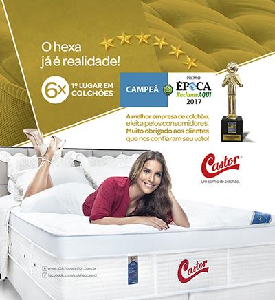 Colchões Castor conquista pela 6ª vez o Prêmio Época Reclame Aqui