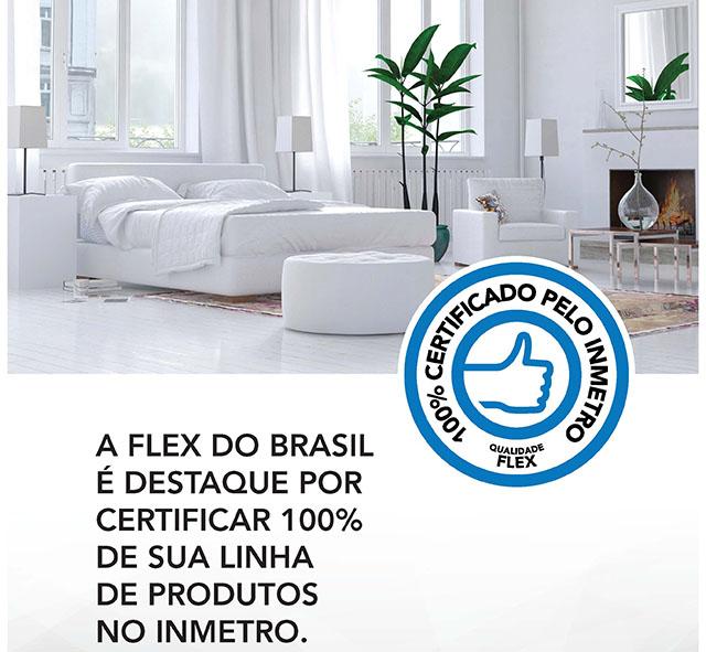 Flex do Brasil tem 100% de suas linhas de colchões certificadas pelo Inmetro
