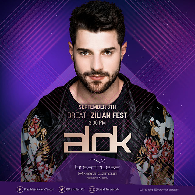 "DJ Alok comandará a ""Breathzilian Fest"" no Breathless Riviera Cancun Resort & SPA"