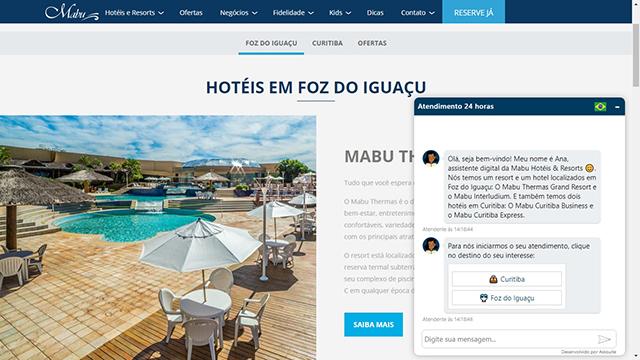 Rede Mabu Hotéis & Resorts adota inteligência artificial para atender hóspedes