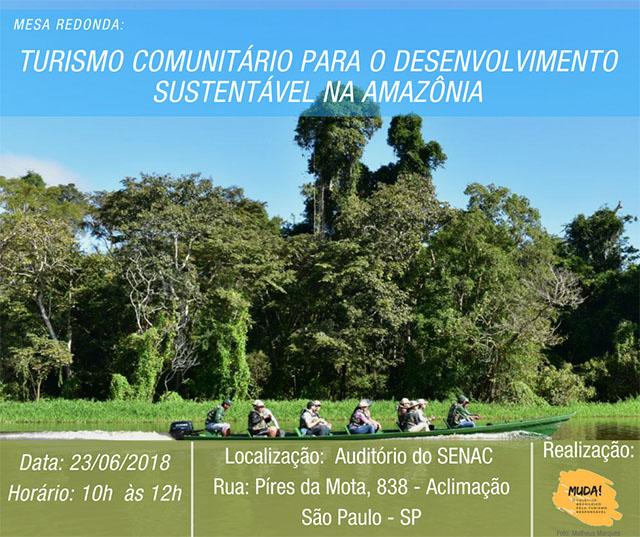 Senac SP Aclimação recebe evento sobre Turismo de Base Comunitária na Amazônia