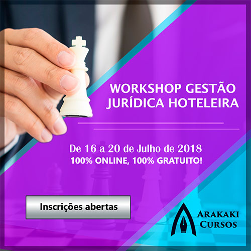 Workshop Gestão Jurídica Hoteleira está com as inscrições abertas