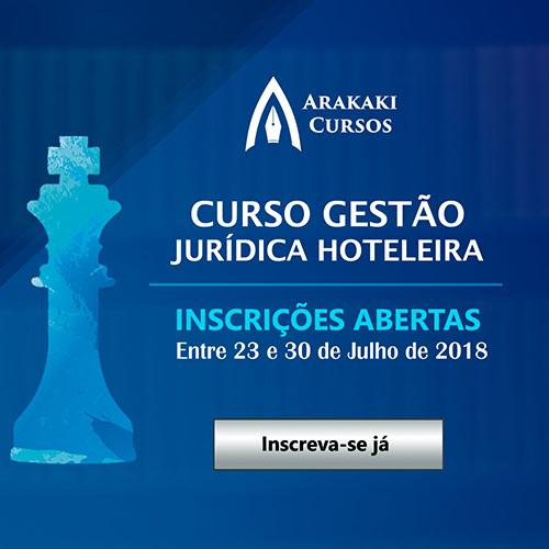 Curso Gestão Jurídica Hoteleira on line está com inscrições abertas