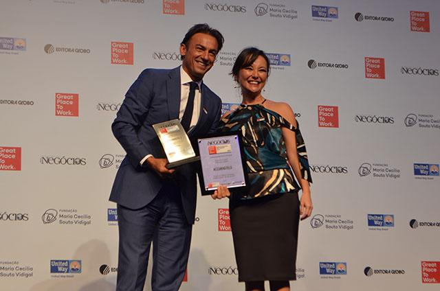 AccorHotels conquista prêmio de uma das melhores empresas para se trabalhar
