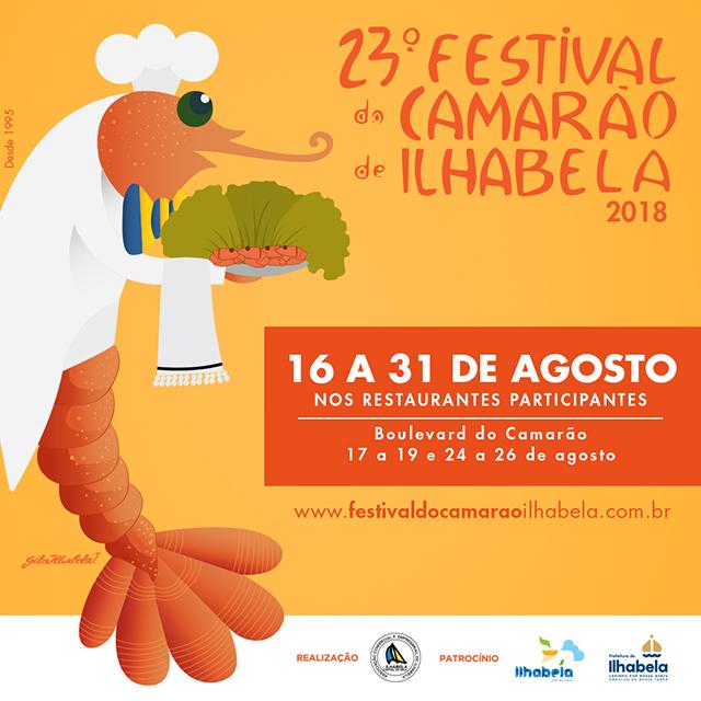 Ilhabela recebe o 23º Festival do Camarão