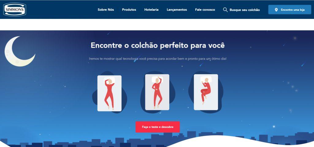 Colchões Simmons reformula site para aumentar compras em lojas físicas