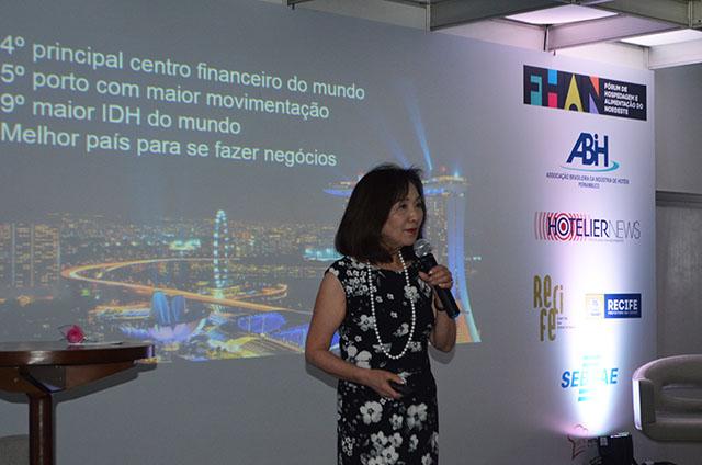 Chieko Aoki debate os desafios da hotelaria na feira Hotel & Food Nordeste
