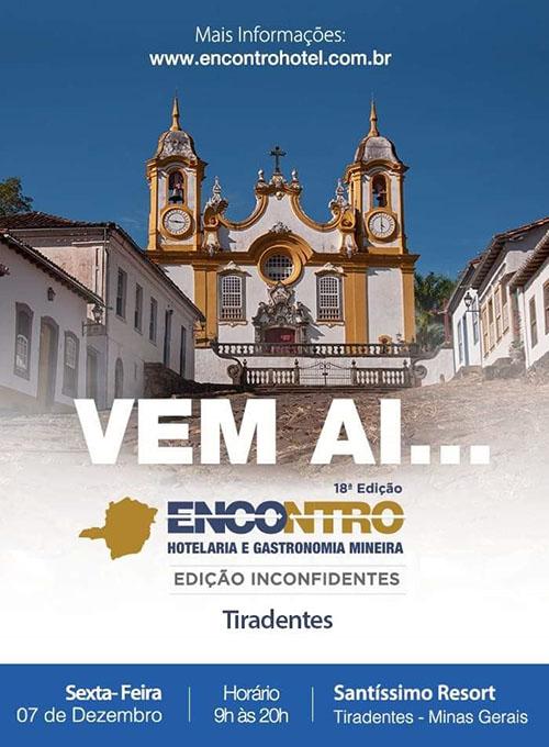 18º Encontro da Hotelaria e Gastronomia Mineira acontecerá em Tiradentes