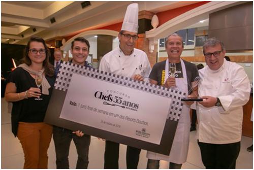Curitibano foi o vencedor do Concurso Chefs 55 Anos Bourbon
