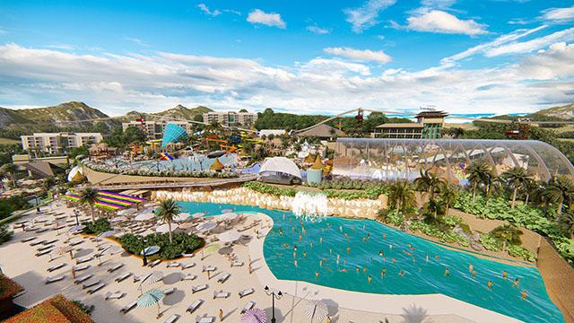 Começou a obra da maior praia artificial do Brasil no Thermas Hot World