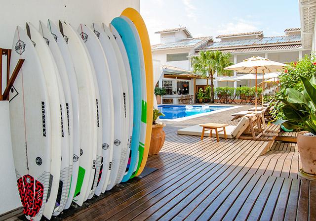Hotel Maui Maresias ganha club da Surf's Up para entrega e retirada de pranchas