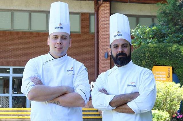 Alunos do Senac Campos do Jordão cozinham com chef Onildo Rocha