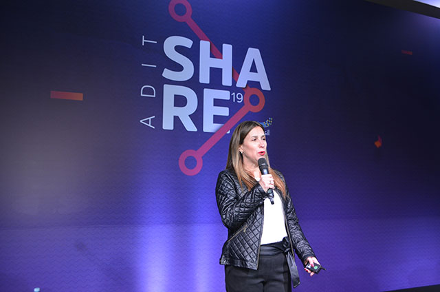 Fabiana Leite, líder RCI Brasil, palestrou na 7ª edição do ADIT Share
