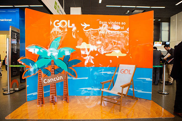 Gol inaugura voo para Cancún, no México, como 14º destino internacional