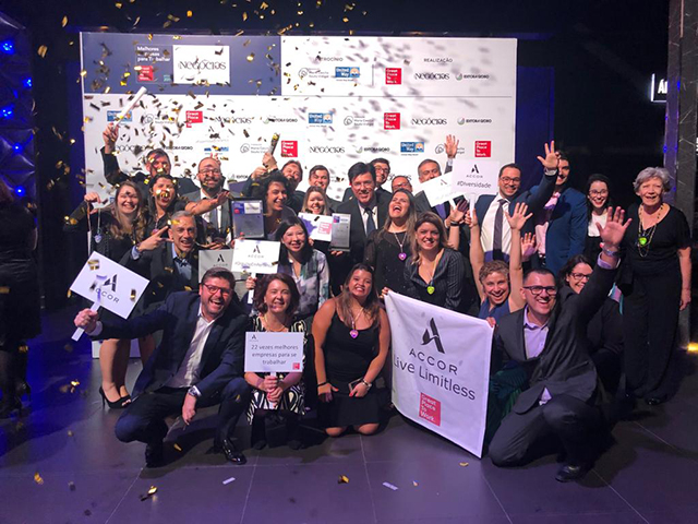 Accor é reconhecida como a 7ª melhor empresa para se trabalhar pelo GPTW