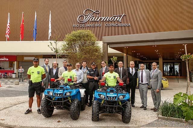 Ação conjunta do Hotéis Rio entrega quadriciclos restaurados ao 19º BPM
