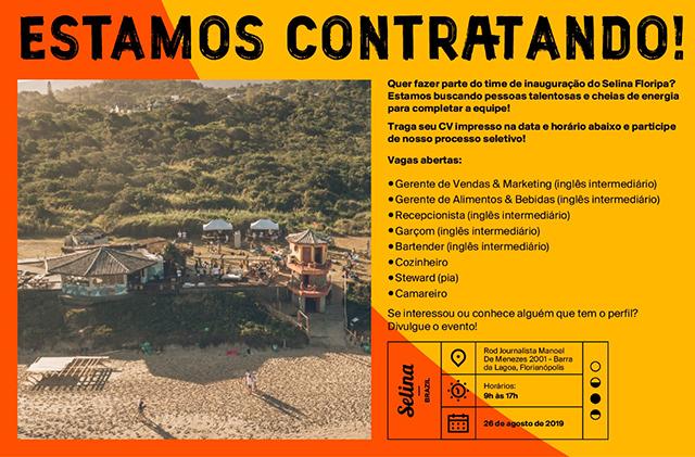 Selina Hotéis anuncia vagas para a sua propriedade em Florianópolis (SC)