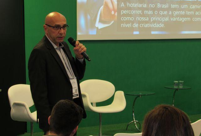 Ricardo Pompeu, da Nobile Hotéis, foi destaque do Café do Saber na Equipotel