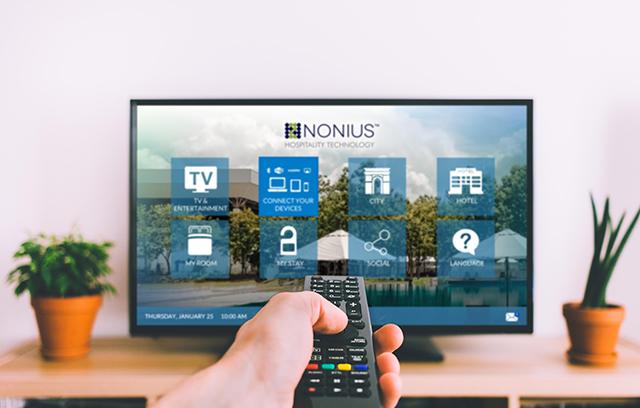 TV interativa Nonius facilita a comunicação entre o hotel e seus hóspedes