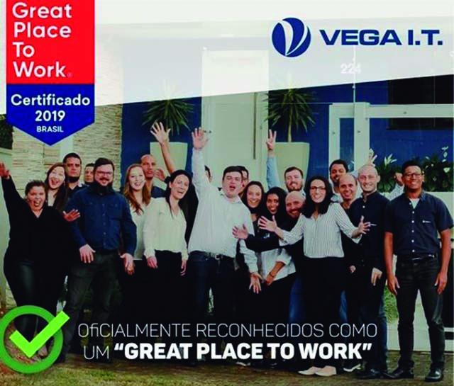 Selo Great Place to Work e novas vagas de emprego são novidades da Vega I.T.