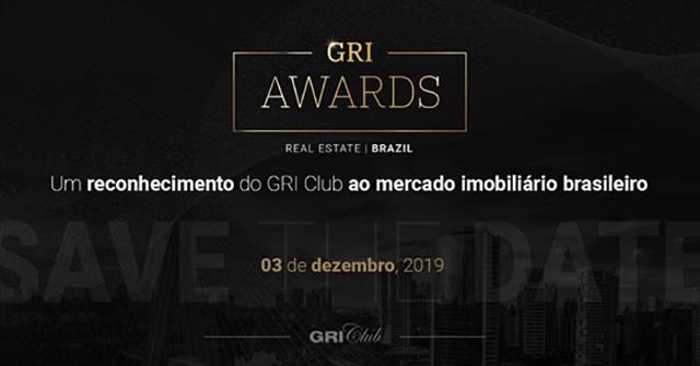 GRI Awards 2019 reconhecerá os destaques do mercado imobiliário brasileiro