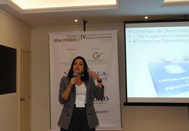 Aline Belluco participa do 4º encontro Nacional de Gestão e hospitalidade