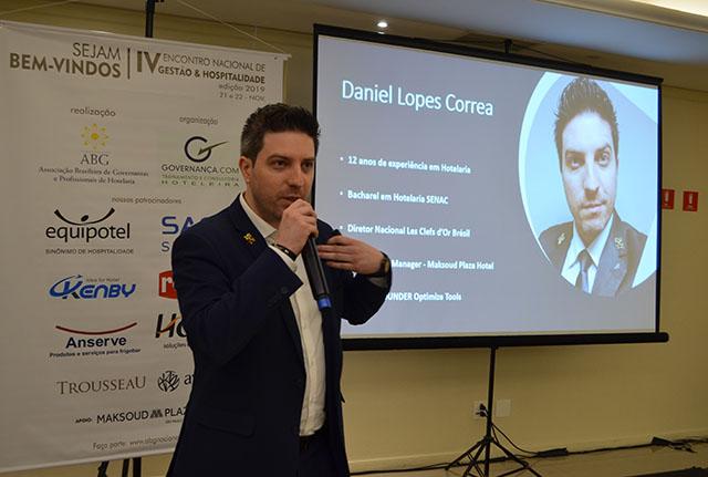 Daniel Correa palestrou no 4º Encontro Nacional de Gestão e Hospitalidade da ABG