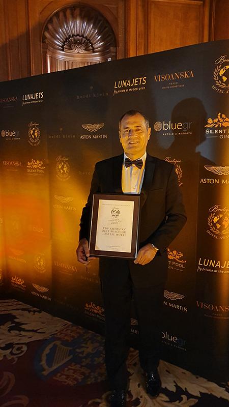 Zorah Beach Hotel é premiado em Londres