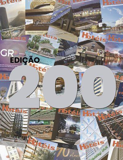 200 edições impressas e ininterruptas da Revista Hotéis, uma marca para comemorar