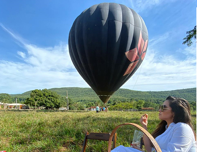 Villa Experiências inicia atividades com voo de balão em Pirenópolis