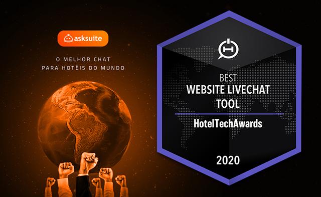 Asksuite é eleita melhor chat para hotéis do mundo no Hotel Tech Awards