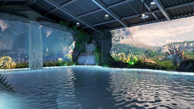 Brotas Eco Resort investe em piscina com projeção mapeada