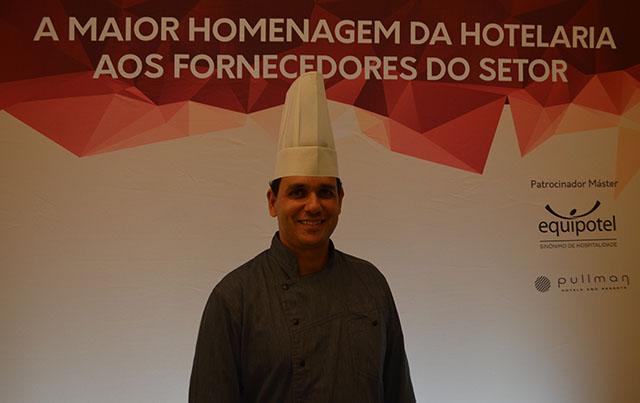 Chef William Carvalho assinou o menu do Troféu Fornecedor Destaque da Hotelaria