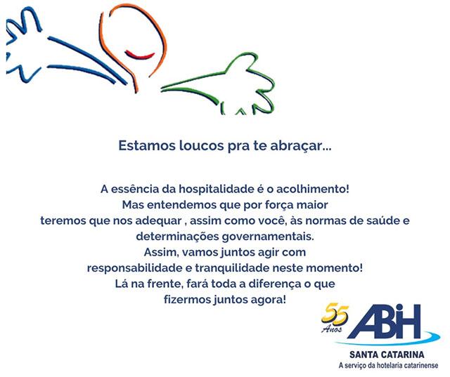 ABIH/SC lançou campanha institucional de apoio a atividade dos associados em razão do coronavírus