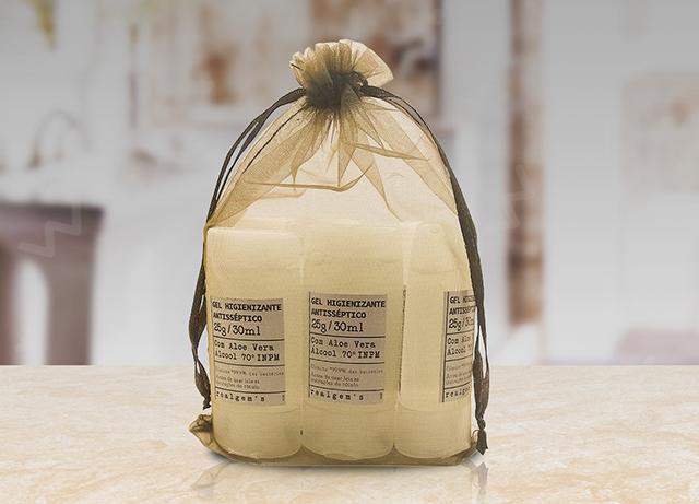 Realgem's anuncia kits com álcool gel e uma doação a cada seis unidades vendidas
