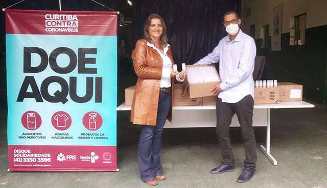 Realgem´s passa a produzir álcool em gel e doa 3.600 unidades à Prefeitura de Curitiba