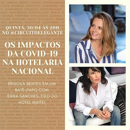 Érika Sanches, CEO do Maitei Hotel, falará sobre os impactos da COVID-19 na hotelaria