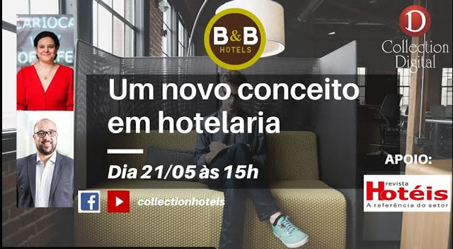Collection Hotels & Resorts promoverá live com Monika Borges da B&B Hotels