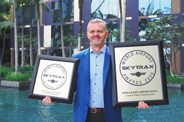 Skytrax premia pelo 6º ano consecutivo Crowne Plaza Changi Airport